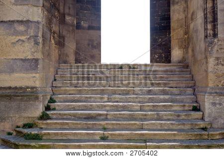 Old Stairs Blank Door