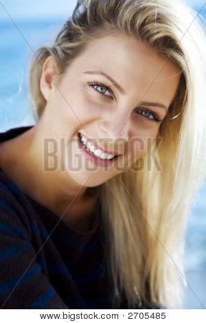 Smiling Female Outdoors