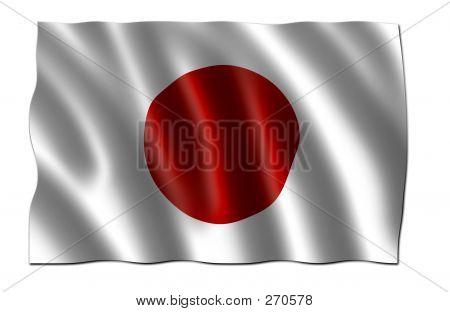 Japan Flag (3d)