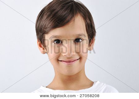 Portrait of little cute boy