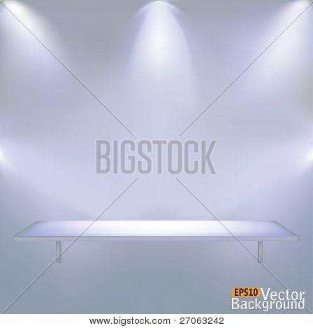 Shelf illumination vector