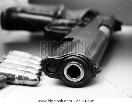 bullet and gun