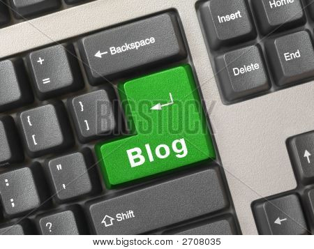 Computer Keyboard With Key Blog