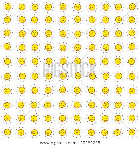 One hundred doodle suns