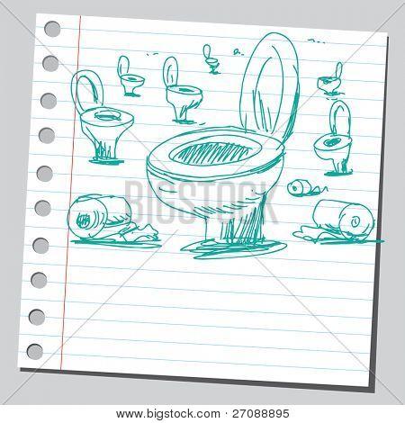Scribble toilette bowls