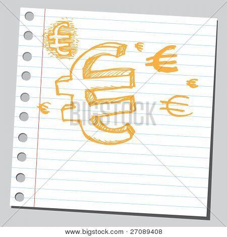 Scribble euro symbol