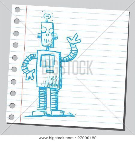 Garabato divertido robot