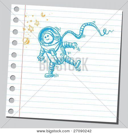 Scribble astronaut