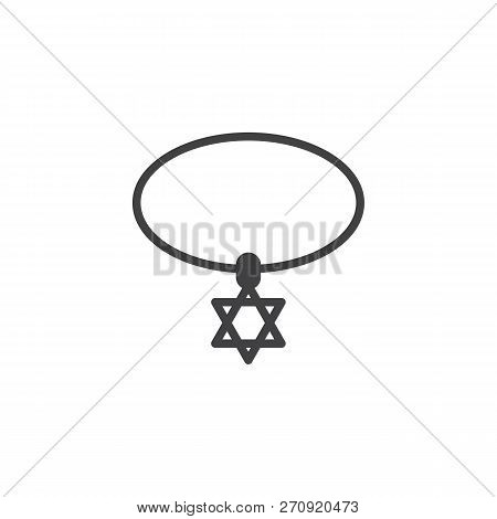 Star Of David Necklace Vector