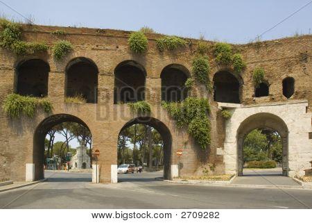 Roman Gate At The End Of Via Veneto