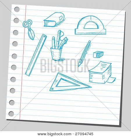 School tools drawing