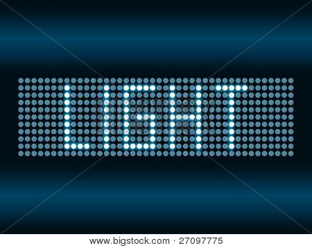Led scoreboard vector