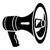 Bass Speaker Icon. Simple Illustration Of Bass Speaker Icon For Web Design Isolated On White Backgro poster