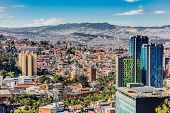 Bogota Skyline cityscape in Bogota capital city of Colombia South America poster