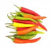 stock photo of red hot chilli peppers  - Hot chili peppers - JPG