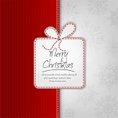 Elegant Christmas Background With Gift Box