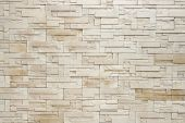 stock photo of light weight  - Pattern of White Modern stone Brick Wall Surfaced - JPG