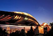 pic of faber  - Singapore henderson wave bridge at dusk - JPG