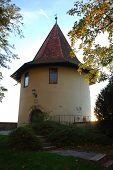 Lindau, Germany: The Powder Tower. A Powder Tower Was A Building Used By The Military Or By Mining C poster