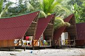 beautiful tourist  bungalows at Tioman island, Malaysia