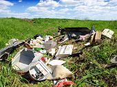 stock photo of landfills  - Garbage Dump - JPG