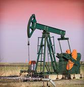 stock photo of nonrenewable  - Oil Pumpjack - JPG