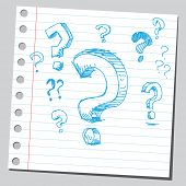 image of question-mark  - Scribble question marks - JPG