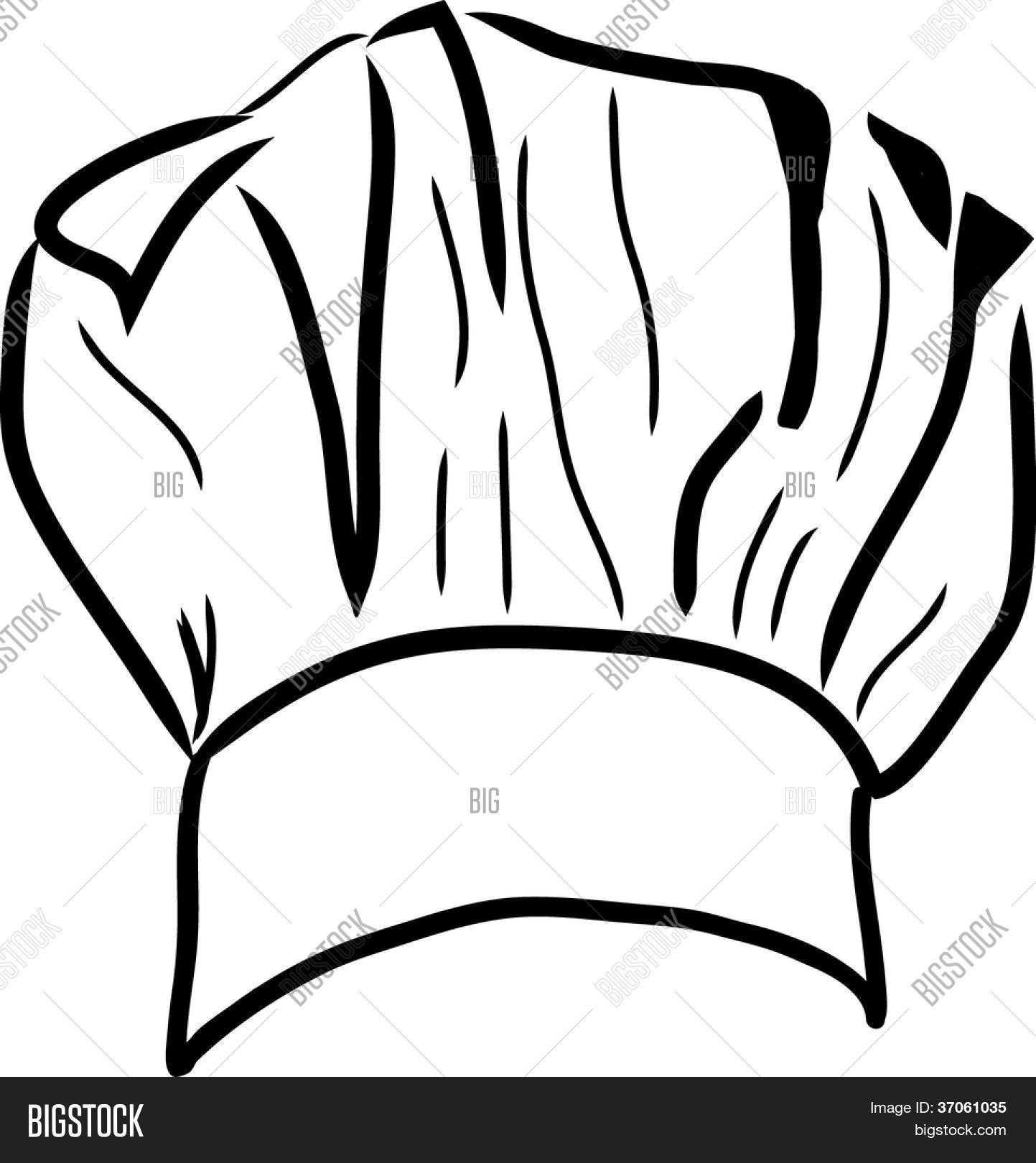 chef hat vector line drawing vector amp photo bigstock