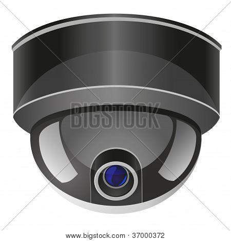 Video Surveillance Camera Vector Illustration