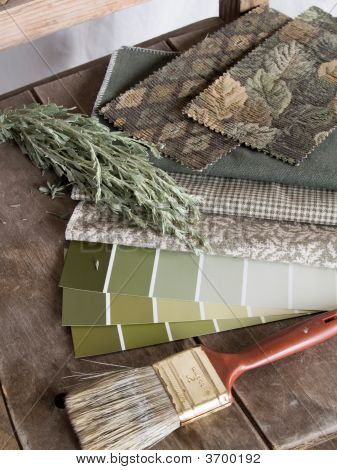 Earthy Green Interior Decoration Plan