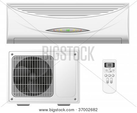 Air Conditioning Split System Vector Illustration