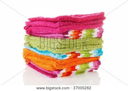 Pile Of Colorful Washclothes