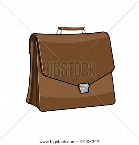 Brown Brief case, vector icon