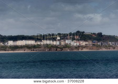 Tenby Beach In Pembrokeshire