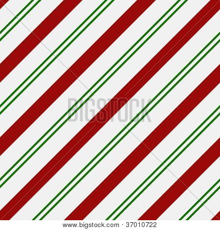 Red, Green And White Striped Fabric Background