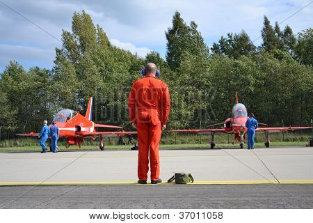 Red Arrows before start