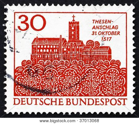Postage stamp Germany 1967 The Wartburg, Eisenach