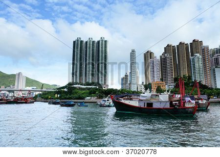 typhoon shelter in Hong Kong, aberdeen