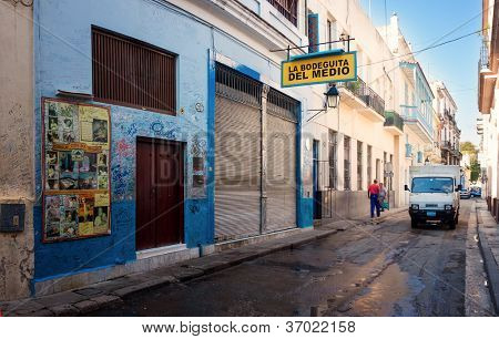HAVANA-SEPTEMBER 4:La Bodeguita del Medio September 4,2012 in Havana.Since its opening in 1942,this worldwide famous restaurant is one of the main attractions of the cuban capital