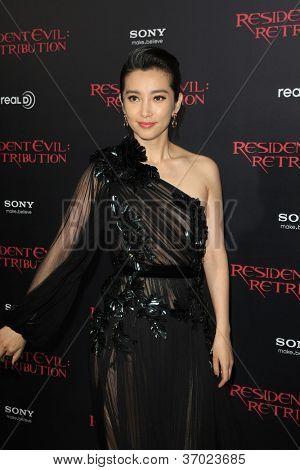 LOS ANGELES - SEP 12: Li Bingbing at the LA premiere of 'Resident Evil: Retribution' at Regal Cinemas L.A. Live on September 12, 2012 in Los Angeles, California