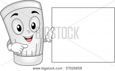 Illustration of a Toque Mascot Holding a Blank Menu