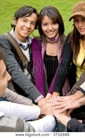 Happy Friends Teamwork