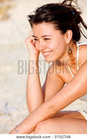 Beach Girl Pensive