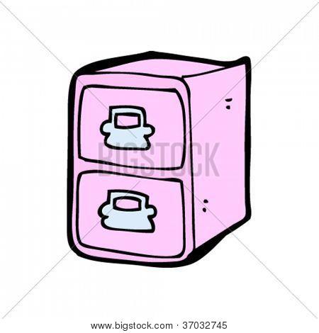 Pink Filing Cabinet Cartoon Vector & Photo | Bigstock