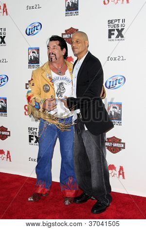 LOS ANGELES, CA - SEP 8: Chuck Zito, David Labrava at the 'Sons of Anarchy' season 5 premiere screening at Westwood Village on September 8, 2012 in Los Angeles, California.