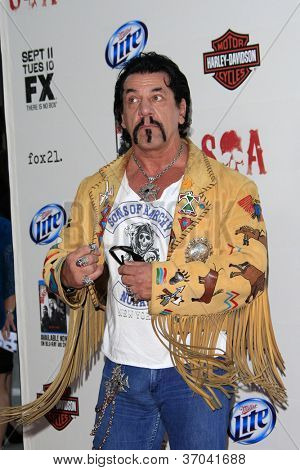 "LOS ANGELES - SEP 8:  Chuck Zito arrives at the ""Sons of Anarchy"" Season 5 Premiere Screening at Village Theater on September 8, 2012 in Westwood, CA"
