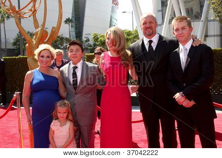 LOS ANGELES - SEP 15: Leigh-Allyn Baker, Mia Talerico, Nathan Kress, Bridget Mendler, Eric Kramer, J Dolley arrives at the Creative Emmys 2012 at Nokia Theater on September 15, 2012 in Los Angeles, CA
