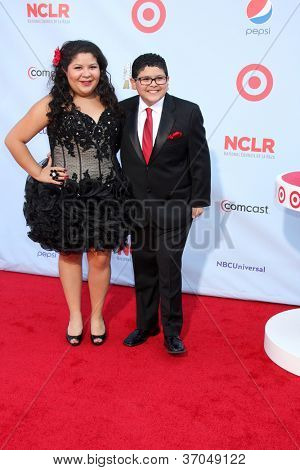 LOS ANGELES - SEP 16:  Raini Rodriguez, Rico Rodriguez arrives at the 2012 ALMA Awards at Pasadena Civic Auditorium on September 16, 2012 in Pasadena, CA