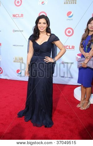 LOS ANGELES - SEP 16:  America Ferrera arrives at the 2012 ALMA Awards at Pasadena Civic Auditorium on September 16, 2012 in Pasadena, CA