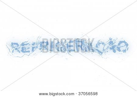 A frozen word/phrase from a series isolated on a white background, in Portuguese-Br language means 'Cooling'.
